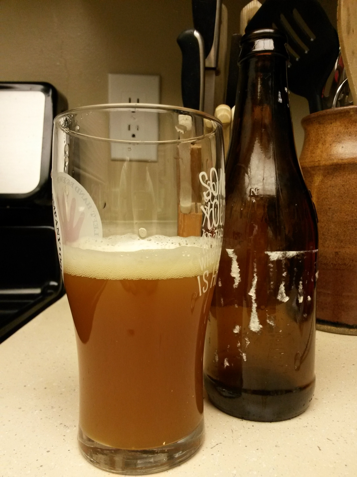 Our brew out of the bottle